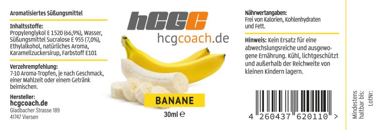 Aromatropfen / FlavDrops zum süßen und aromatisieren 30 ml Banane