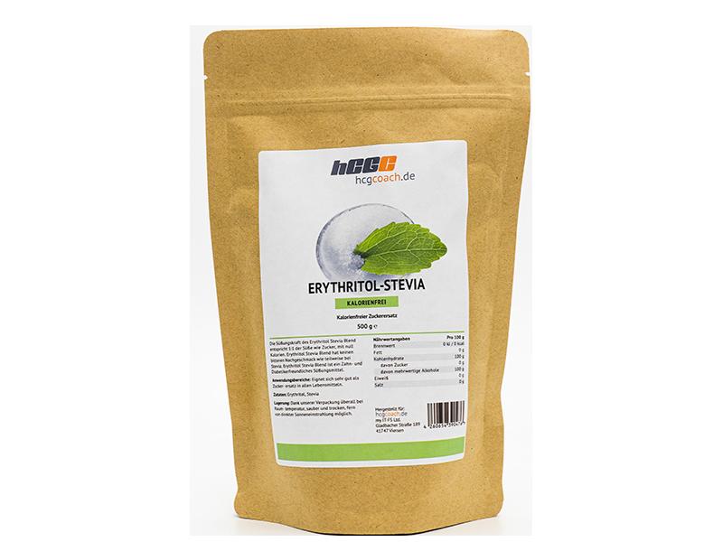 Erythritol Stevia Blend - kalorienfreier Zuckerersatz (500 g) | Gleiche Süßkraft wie Zucker