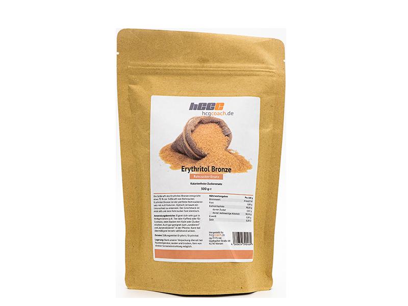 Erythritol Bronze - kalorienfreier Rohrzuckerersatz (500 g)