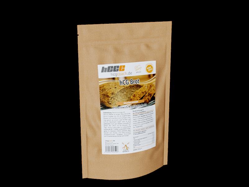 Brotbackmischung mit nur 1,4g Kohlenhydrate pro 100g. Komplett hCG Diät geeignet. Goldene Brotzeit
