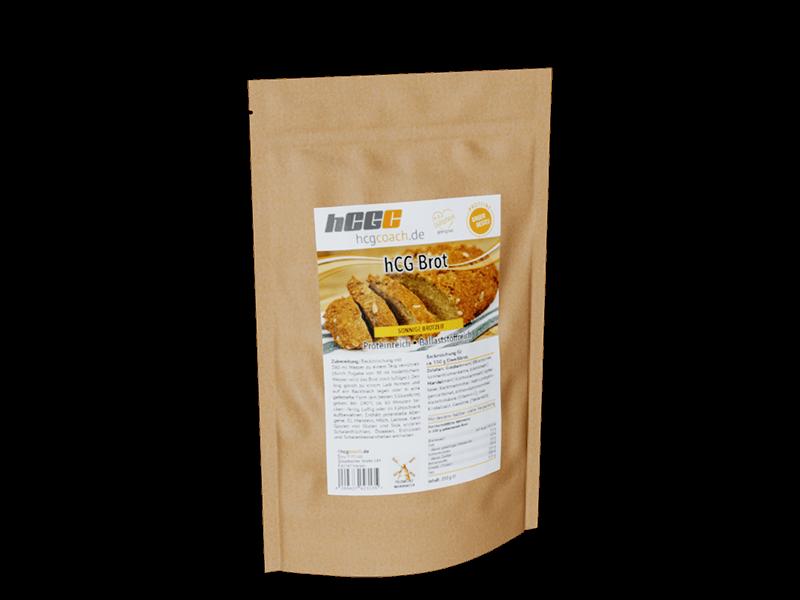 Brotbackmischung mit nur 0,8g Kohlenhydrate pro 100g. Komplett hCG Diät geeignet. Sonnige Brotzeit