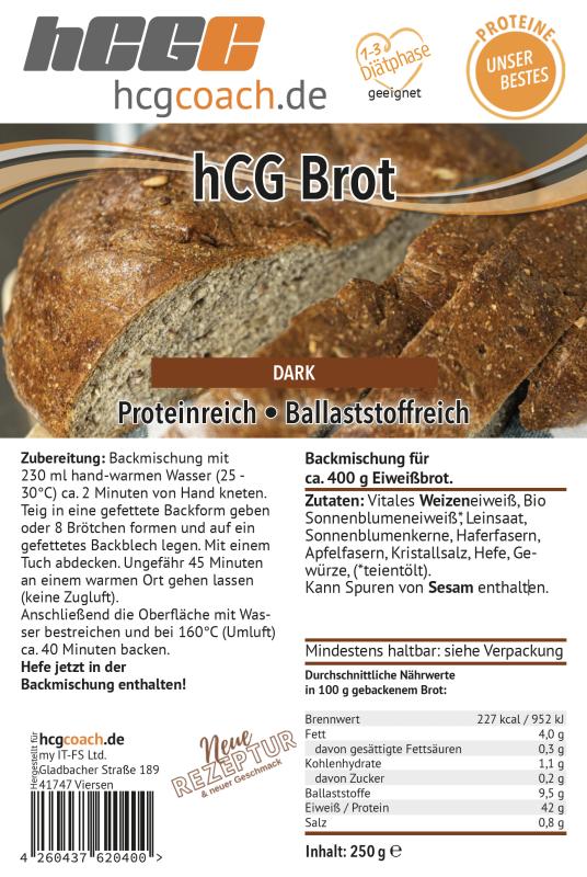 hCG-Brotbackmischung 250 g Dark